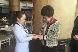 Cao Dai representative Kim Vo meets Taiwan's former vice-president Annette Lu